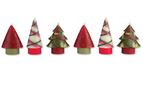 decorative holiday christmas candles christmas tree