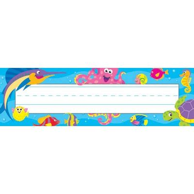 ocean themed desk name tags set of cubbies and work shop by theme pirates ocean under the sea desk