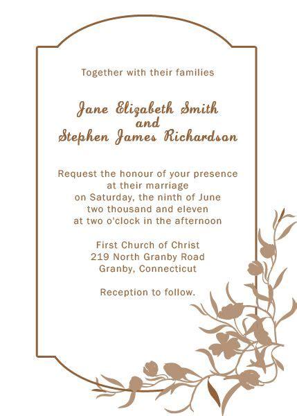 elegant free templates for invitations elegant floral border wedding invitation template