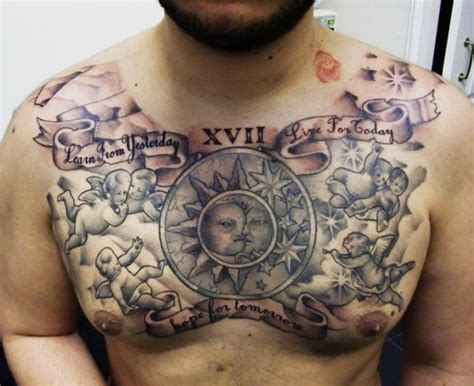 tattoo design for mens chest masculine chest tattoos for men tattoo ideas mag