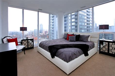 condo bedroom interior design telegram mews condo contemporary bedroom other metro