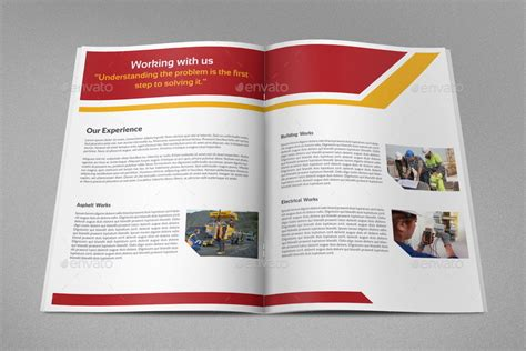 construction brochure templates construction company brochure bundle vol 2 by owpictures