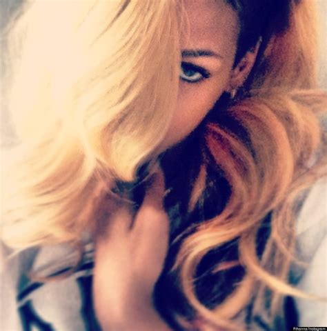 blonde hairstyles instagram rihanna goes blond instagram pic shows off singer s new