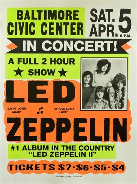 printable posters online led zeppelin in concert concert vintage poster free