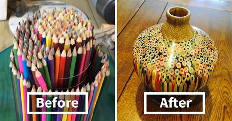 colored pencil vase artist makes a vase entirely of pencils bored panda