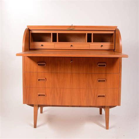 teak roll top desk scandinavian teak roll top cylinder desk for sale at 1stdibs