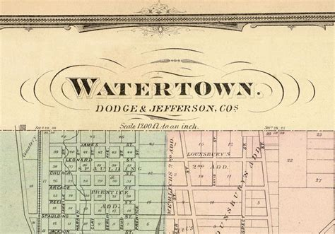 watertown wi map map of watertown wisconsin 1878 maps and vintage