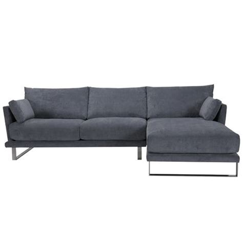 grey modular 3 seat sofa with chaise lounge cityscape by