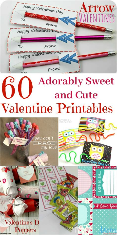 also check out this adorable free printable that would be 60 adorably sweet and cute valentine printables sweet2018