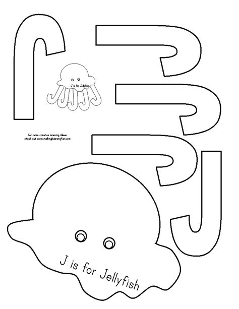 kindergarten activities letter j j is for jellyfish check out the website for more letter