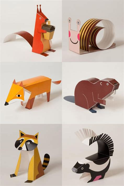 Paper Craft Animals - 25 best ideas about paper toys on 3d paper