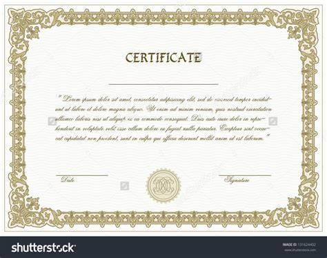 design certificate format certificate templates without borders free gallery