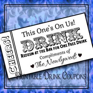 Drink Ticket Template by Printable Drink Tickets Diy Wedding Instant By Idodiy