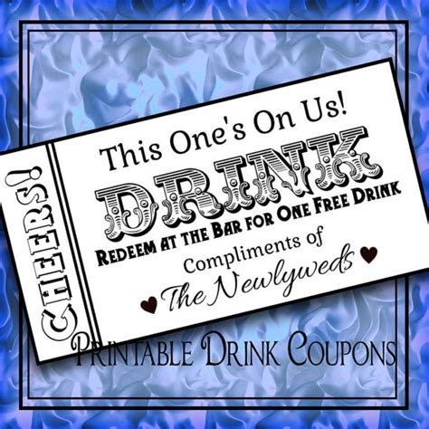 printable drink tickets diy wedding instant download by idodiy