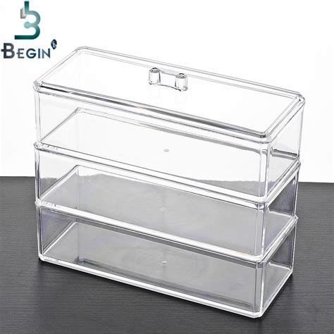 acrylic makeup organizer storage box cosmetic 3
