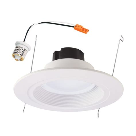 led recessed lighting retrofit halo rl 5 in and 6 in white integrated led recessed