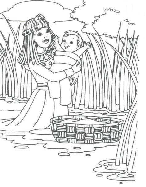 preschool bible coloring pages moses 17 best images about moses crafts on pinterest israel