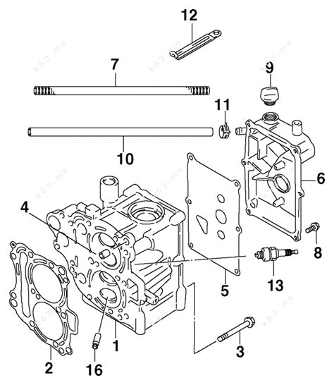 Johnson 2003 10 J10r4stc Cylinder Head Parts Catalog