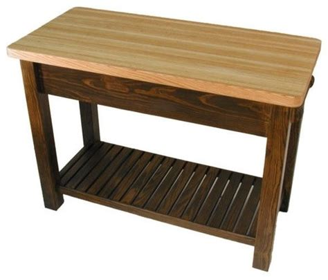 kitchen island butcher block table caney creek prep table with butcher block top modern