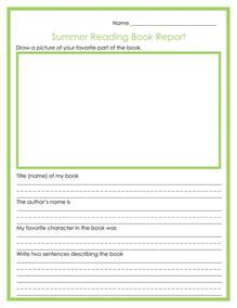 summer reading book report free printables fancy shanty 174