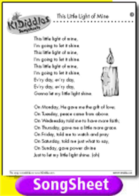 Let There Be Light Lyrics This Little Light Of Mine 2 Song And Lyrics From Kididdles