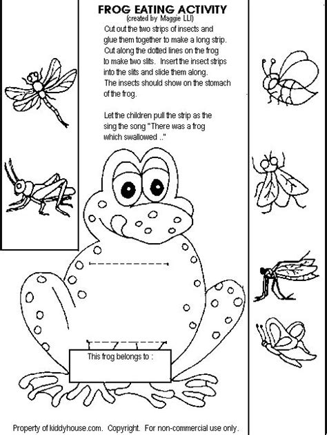 story themed activities frog eating activityhttp kiddyhouse com themes frogs