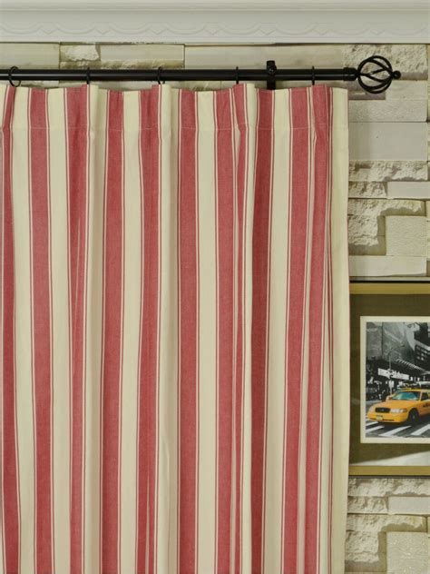 narrow curtain panels moonbay narrow stripe versatile pleat cotton extra long