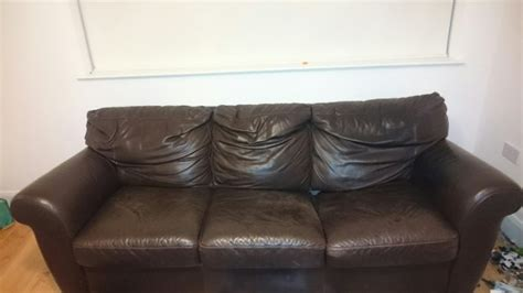 Damaged Sofas For Sale by Free 3 Seater Italian Leather Sofa 1 Damaged Cushion For
