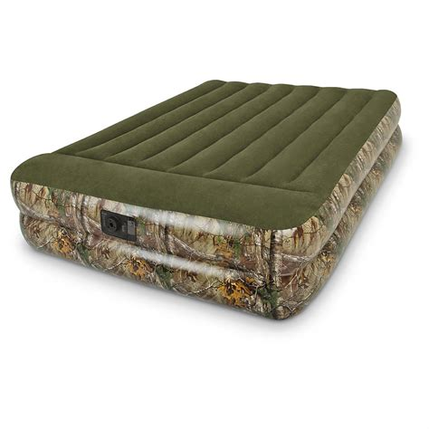 outdoor air bed realtree camo outdoor raised airbed with pump 623214