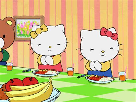 imagenes niños almorzando aprender a dibujar dibujo hello kitty comiendo es