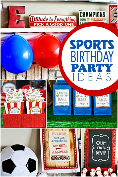 sports themed decorations a sports themed boy s 1st birthday spaceships and