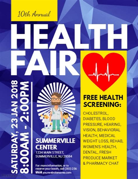 health fair flyer templates free health fair flyer template postermywall