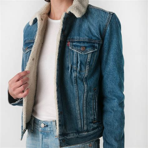 Jacket Distrometalpunk Original Premium mill mercantile levi s premium original sherpa trucker jacket in extremely lovable