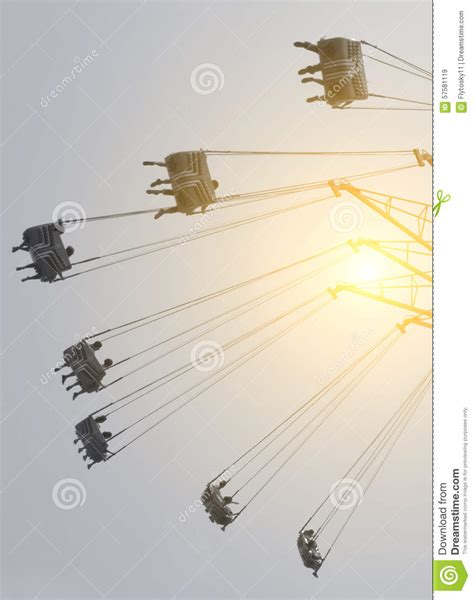 swing theme flying swing in theme park stock photo image 57581119