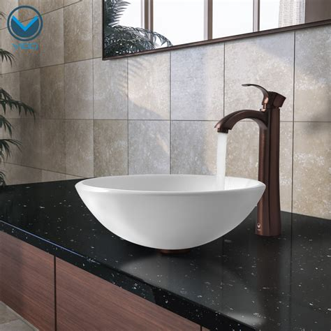 Bowl Sinks For Bathrooms With Vanity Bathroom Fascinating Image Of Bathroom Decoration Using Brown Single Handle Bathroom Sink