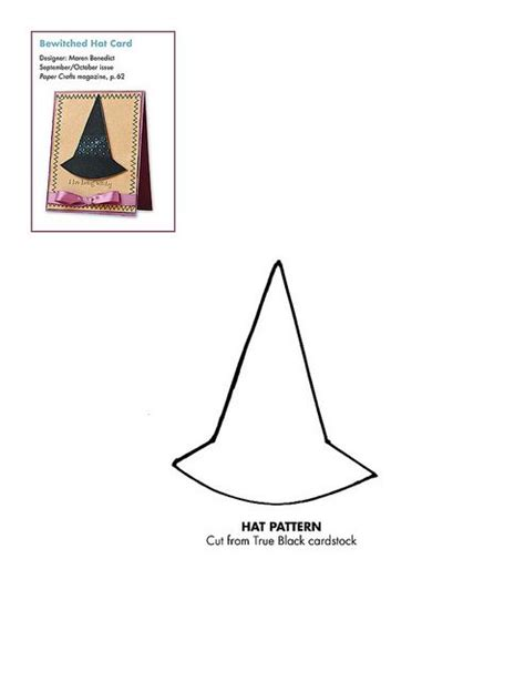paper witch hat template 134 best images about patterns for cards card bases