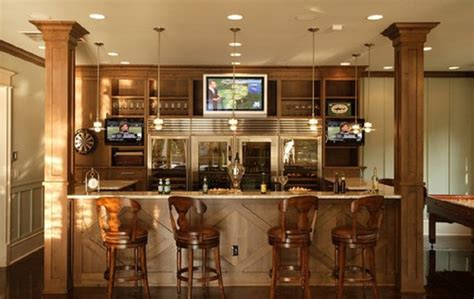 bar designs in basement home bar design