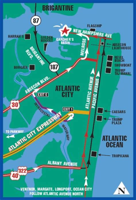 map of atlantic city nj 11 best atlantic city nj surrounding area images on