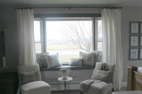 curtains for bay windows with window seat window seat curtains dream home pinterest window