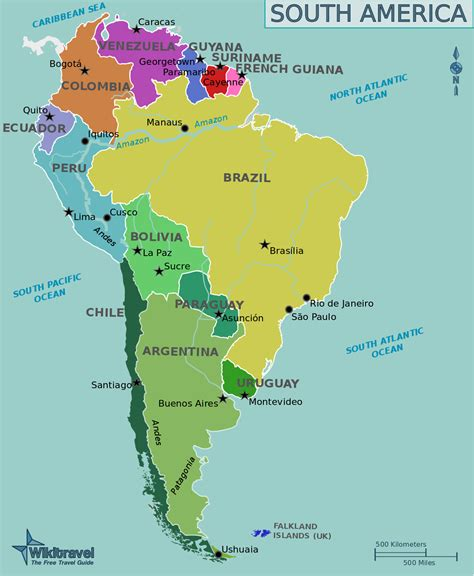 map usa and south america file map of south america png wikitravel shared