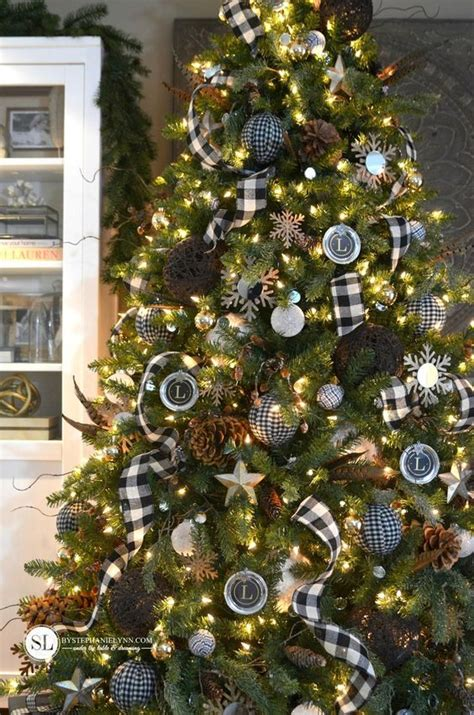 christmas tree decorating ideas with plaid ribbon tree decorations with ribbons celebration all about