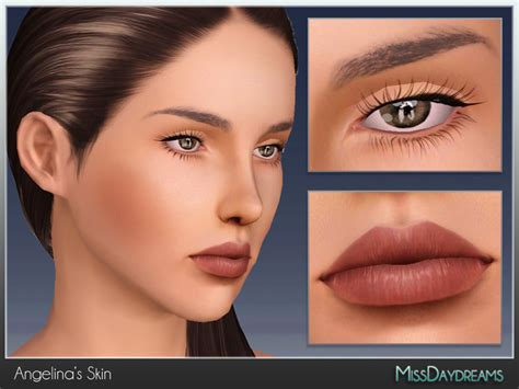 sims 3 cc skin color missdaydreams angelina s skin