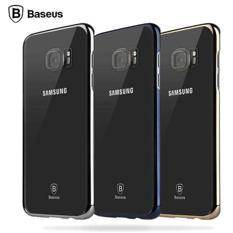 Samsung Galaxy S7 Edge Imak Back Cover Casing baseus for samsung galaxy s7 edge luxury plating frame pc back cover ultra slim clear