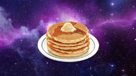 Galaxy Pan Cake Pancake gazing at pancakes in space digi and friends podcast