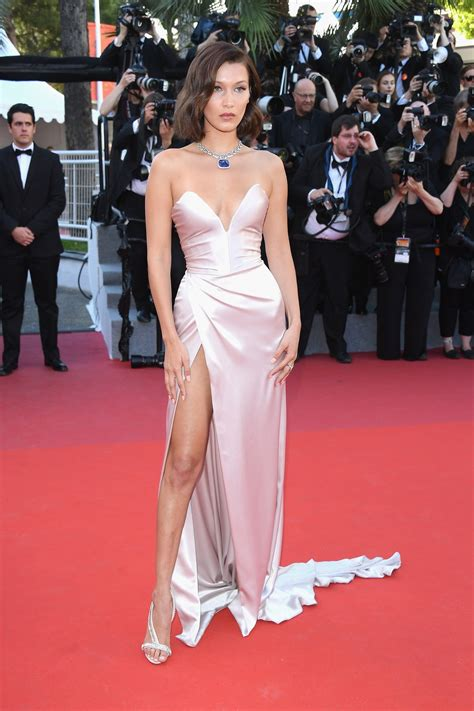 Cannes Wardrobe hadid s cannes gown had another epic leg slit