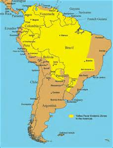 yellow fever map south america insect borne disease insect shield