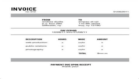 payment due upon receipt template 5 payment due upon receipts sle templates