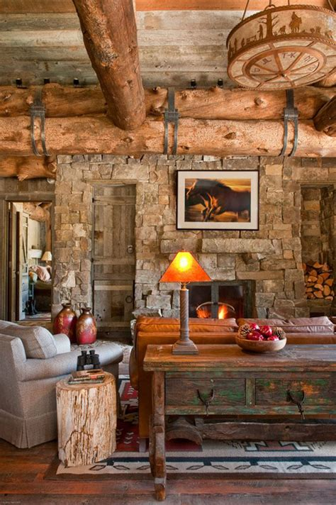 rustic country living room art lake bedroom landscape trees bed rustic architecture