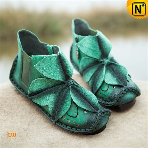 Womens Handmade Shoes - handmade flower applique leather shoes cw305035