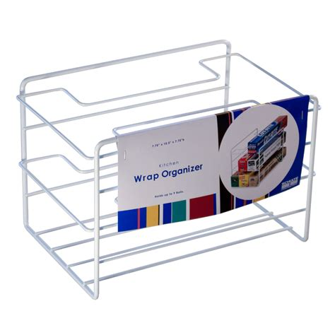 kitchen wrap organizer storage wrap organizer white